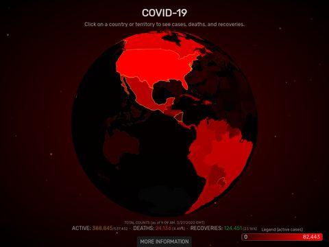 COVIDVisualizer.com - COVID-19 Visualizer