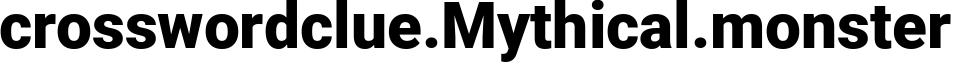 crosswordclue.Mythical.monster - Mythical Website