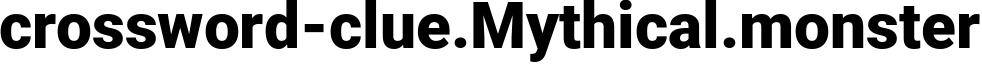 crossword-clue.Mythical.monster - Mythical Website