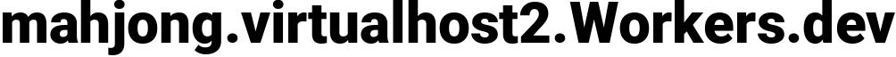 mahjong.virtualhost2.Workers.dev - Workers Website
