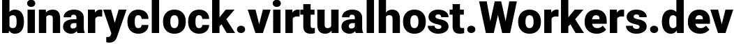 binaryclock.virtualhost.Workers.dev - Workers Website